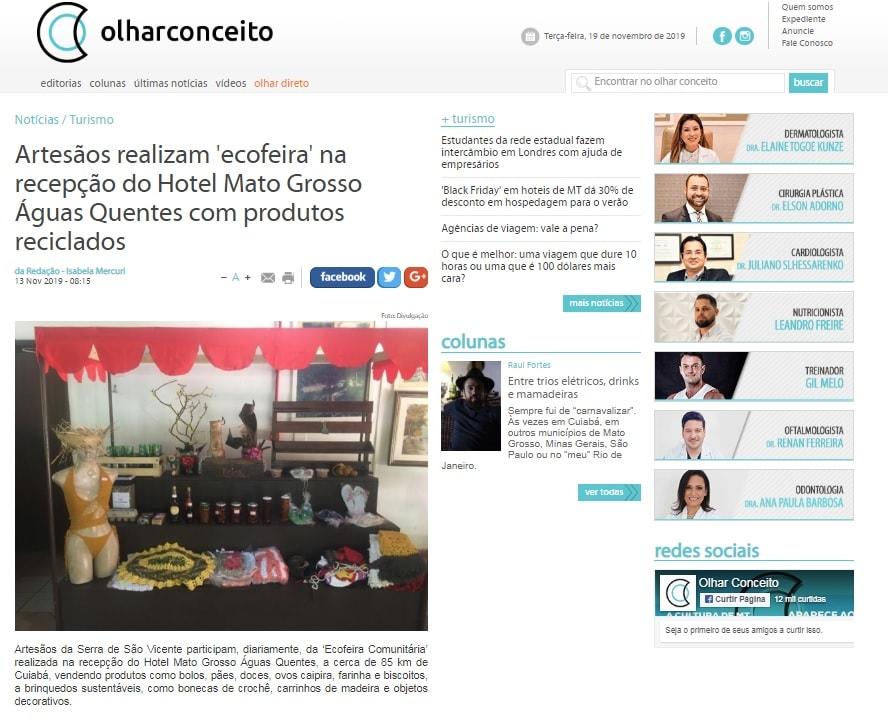 ecofeira no Hotel Mato Grosso Águas Quentes
